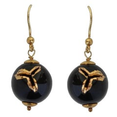 Silvia Guarnieri Black Porcelain Berries Earrings