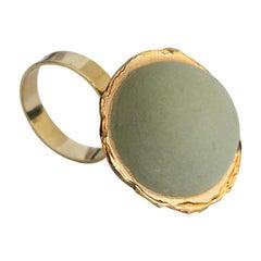 Silvia Guarnieri Opaque Green Porcelain Ring