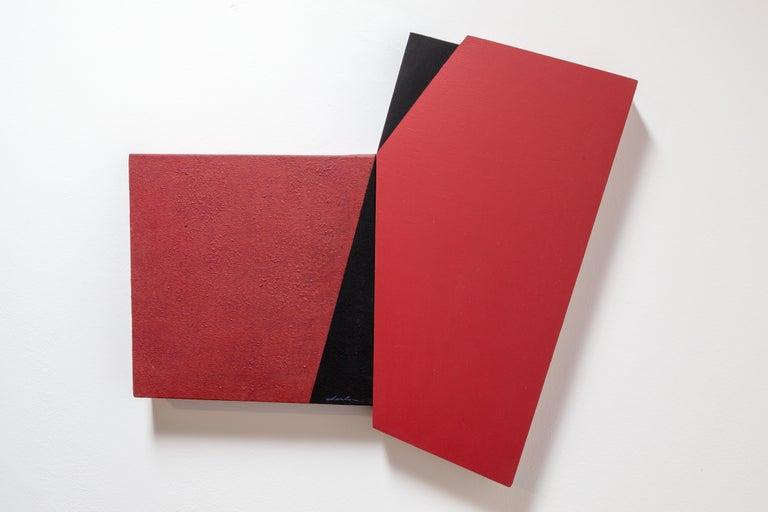 Fissure continuation (Series Irregulars II) by Spanish artist, Silvia Lerin - Painting by Silvia Lerin