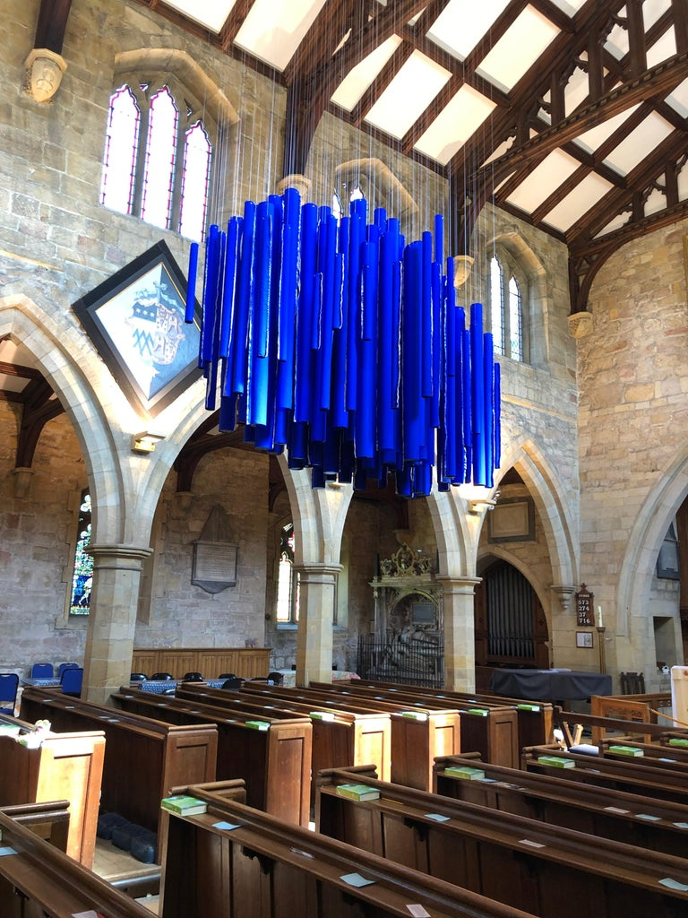 Neons from Heaven: Hanging Sculptural Installation by Silvia Lerin For Sale 4
