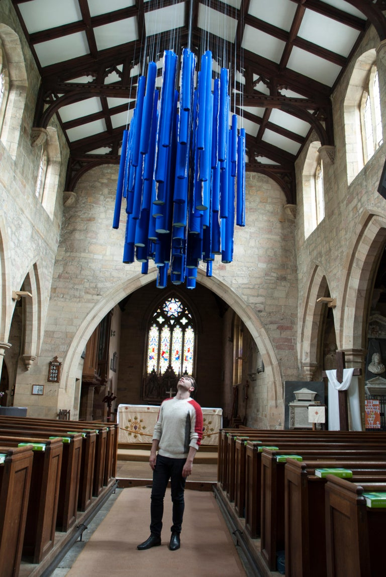 Neons from Heaven: Hanging Sculptural Installation by Silvia Lerin For Sale 9