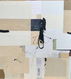 WABI SABI #48 - brown and grey abstract painting