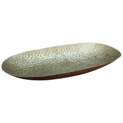 Silvia Tray in Matte Stainless Steel by Curatedkravet
