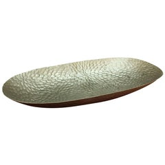 Silvia Tray in Matte Steel by CuratedKravet