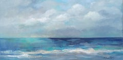 Clouds and Sea, Painting, Acrylic on Canvas