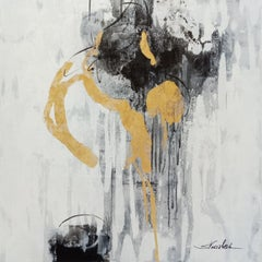 Golden Rain I, Painting, Acrylic on Canvas