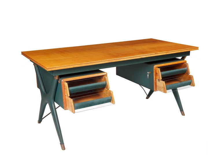 Mid-Century Modern Silvio Berrone, Desk from the Bialetti Building, 1955–1956 For Sale