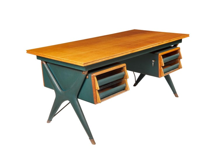 Italian Silvio Berrone, Desk from the Bialetti Building, 1955–1956 For Sale