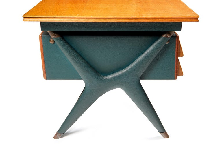 Metal Silvio Berrone, Desk from the Bialetti Building, 1955–1956 For Sale