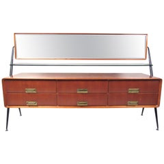 Silvio Cavatorta Dresser/Vanity with Pivoting Mirror