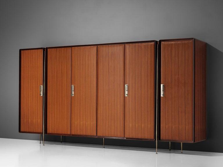 Mid-Century Modern Silvio Cavatorta Large Wardrobe in Mahogany For Sale