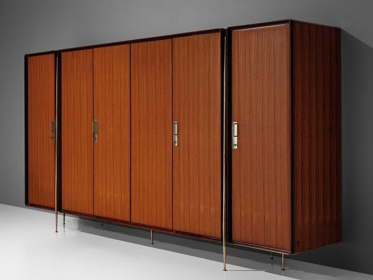 Silvio Cavatorta Large Wardrobe in Mahogany In Good Condition For Sale In Waalwijk, NL
