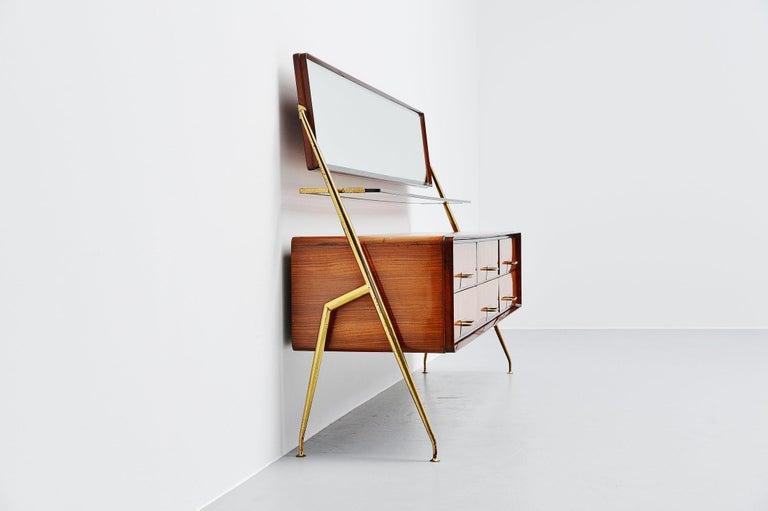 Italian Silvio Cavatorta Mirror Sideboard, Italy, 1958 For Sale