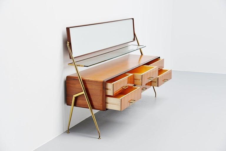 Mid-20th Century Silvio Cavatorta Mirror Sideboard, Italy, 1958 For Sale