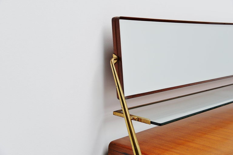 Silvio Cavatorta Mirror Sideboard, Italy, 1958 For Sale 1