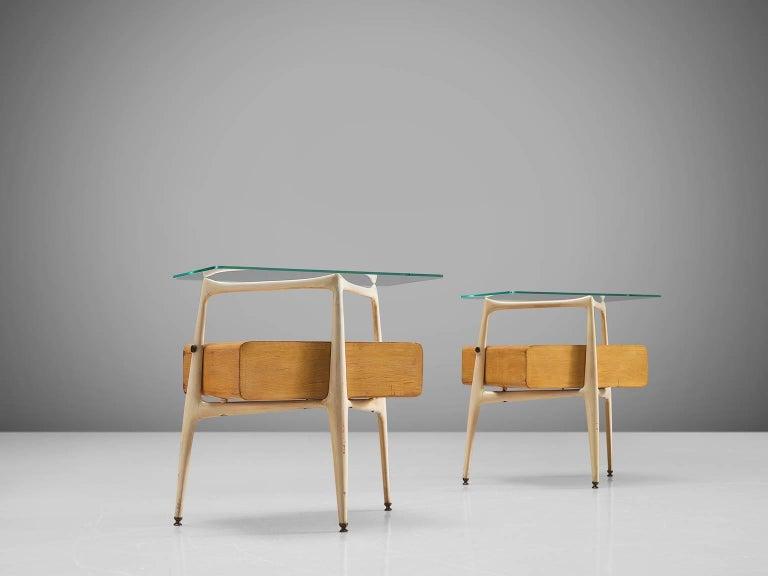 Italian Silvio Cavatorta Pair of Side Tables, circa 1955 For Sale
