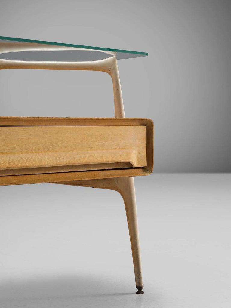 Mid-20th Century Silvio Cavatorta Pair of Side Tables, circa 1955 For Sale