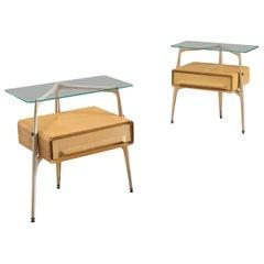 Silvio Cavatorta Pair of Side Tables, circa 1955