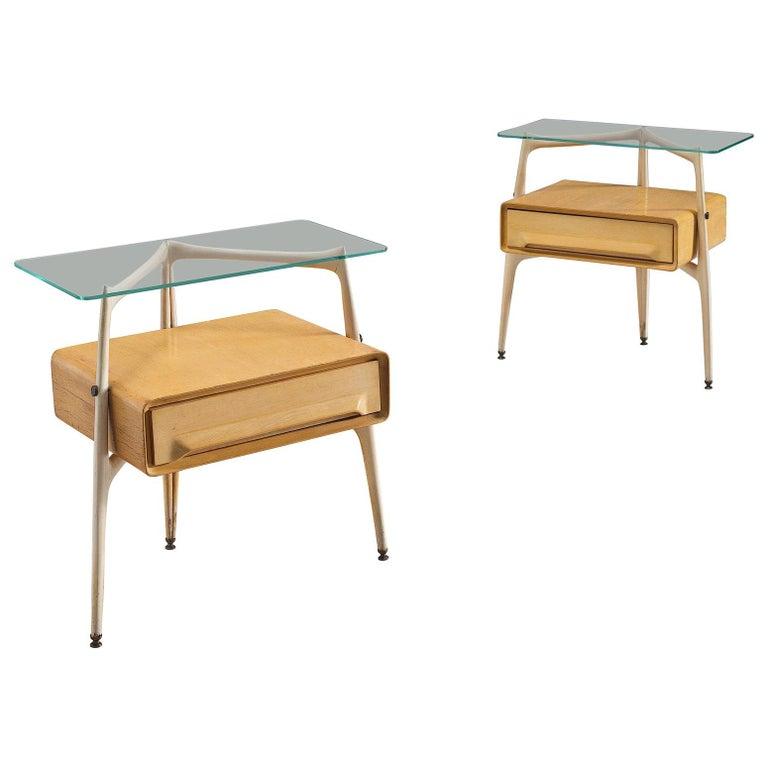 Silvio Cavatorta Pair of Side Tables, circa 1955 For Sale