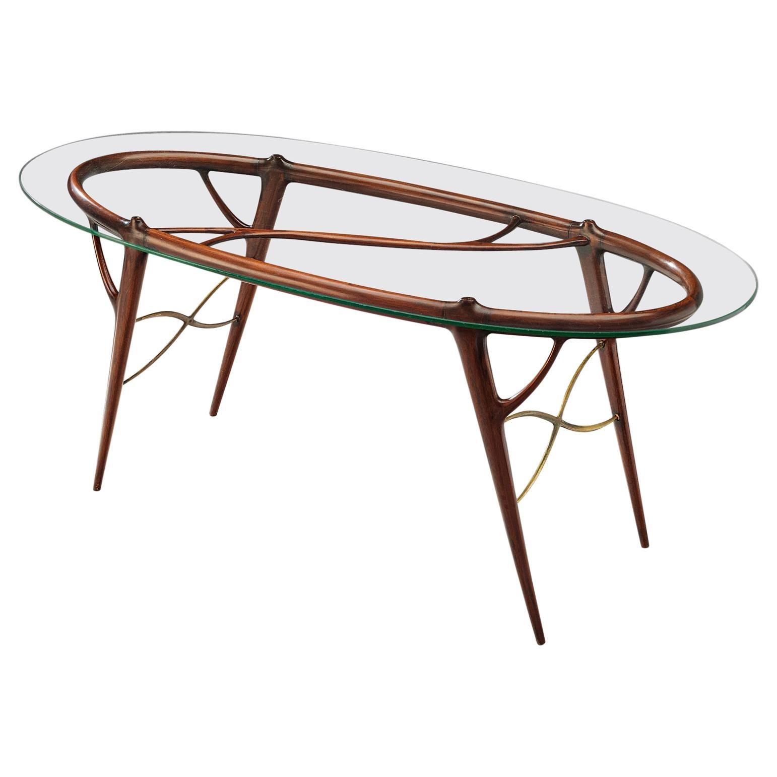 Silvio Cavatorta Sculptural Table in Mahogany