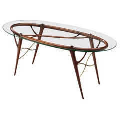 Silvio Cavatorta Sculptural Table in Mahogany