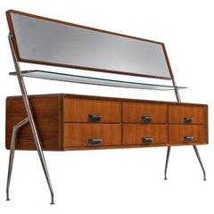 Silvio Cavatorta Sideboard in Mahogany with Mirror