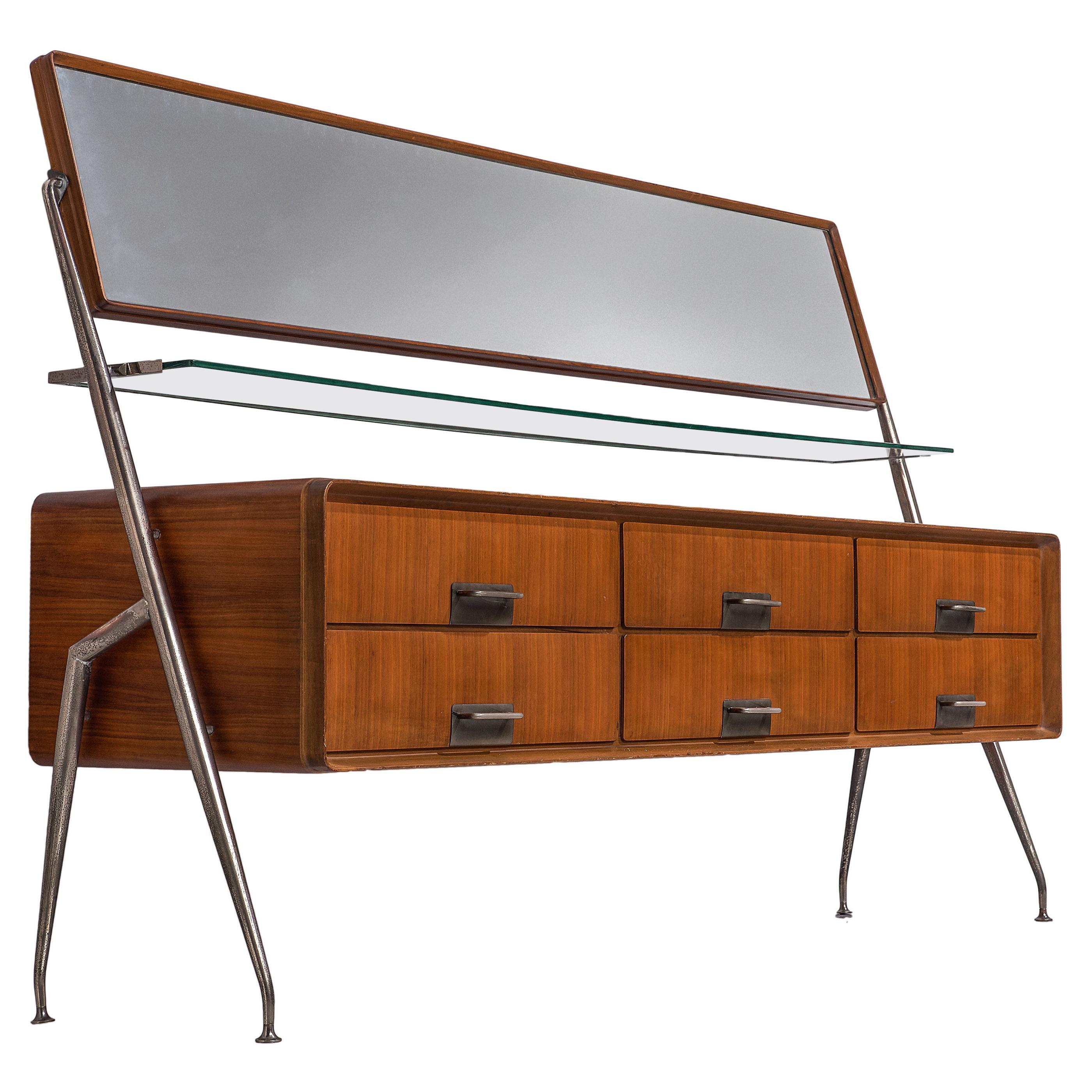 Silvio Cavatorta Sideboard with Mirror in Mahogany