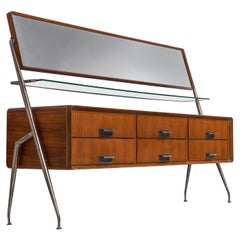 Silvio Cavatorta Sideboard with Mirror in Mahogany