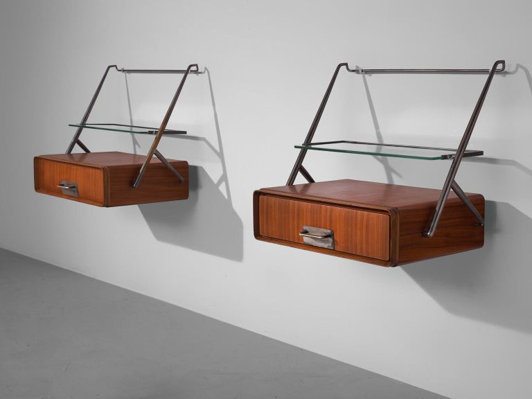 Silvio Cavatorta Wall-Mounted Of Bedside Tables For Sale