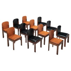 Silvio Coppola for Bernini Bicolor Set of 12 Dining Chairs