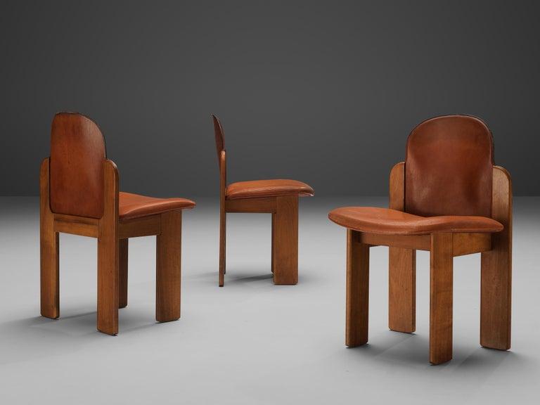 Silvio Coppola Set of Six Dining Chairs Model 330 in Walnut 1