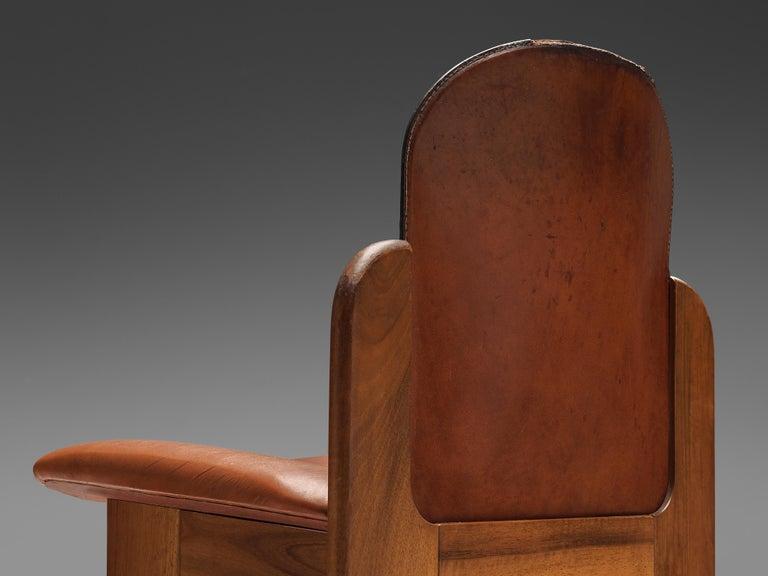 Silvio Coppola Set of Six Dining Chairs Model 330 in Walnut 2