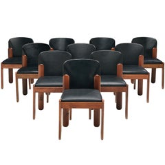Set of Ten Silvio Coppola Dining Chairs