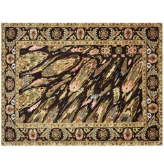 """Sima Pashtun"", Open Edition New Zealand Wool and Silk Art Rug"