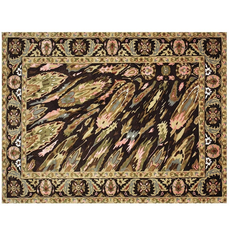 """Hand Knotted Rug """"Sima Pashtun"""" with Trompe-l'œil effect."""