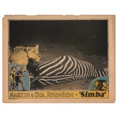 Simba: The King of the Beasts 1928 U.S. Scene Card