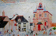 Marazion: Contemporary Outsider Art Oil Painting