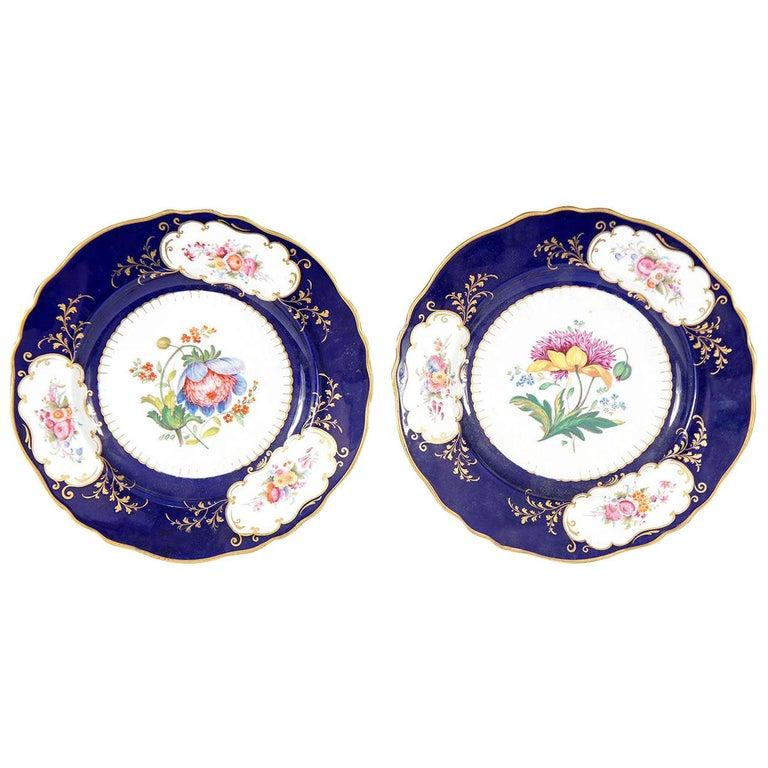 Similar Pair of Ridgway Porcelain Service Plates For Sale