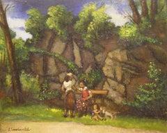 Women in the Park, Greenwich, Connecticut landscape