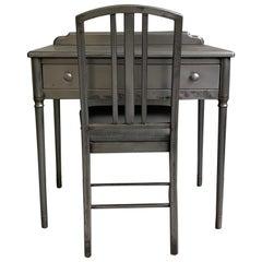 Simmons Brushed Steel Sheraton Series Desk Vanity Set