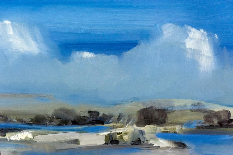 Spring Melt with Cloud on the Horizon - Painting by Simon Andrew
