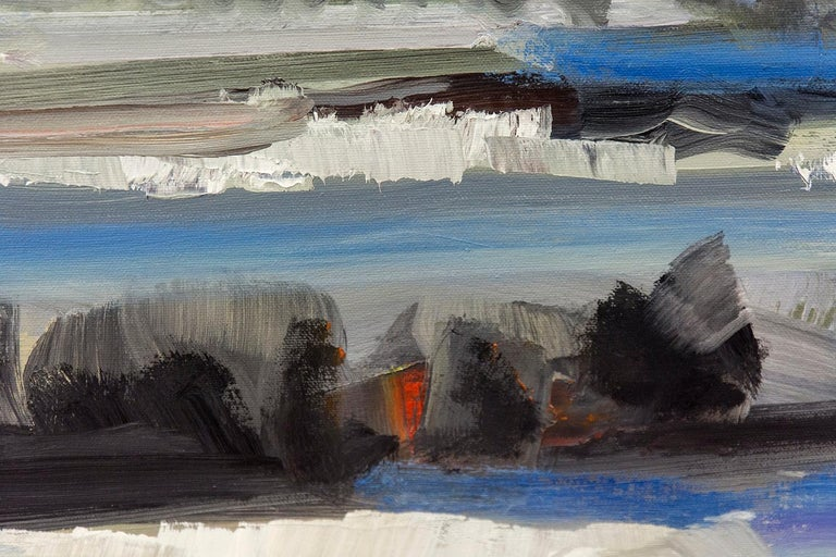 Spring Melt with Cloud on the Horizon - Contemporary Painting by Simon Andrew