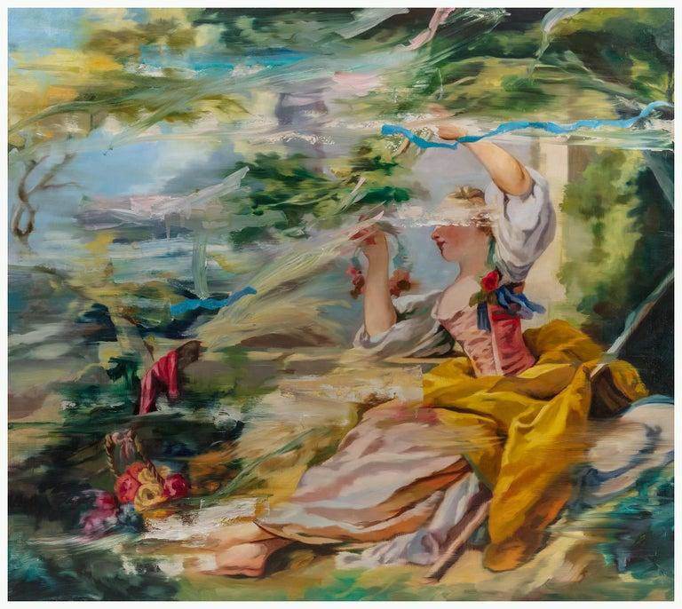 Simon Casson Figurative Painting - Fretchety I