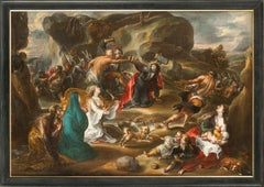 Christ Carrying the Cross, Old Master, 17th Century, By De Vos, Religious Scene