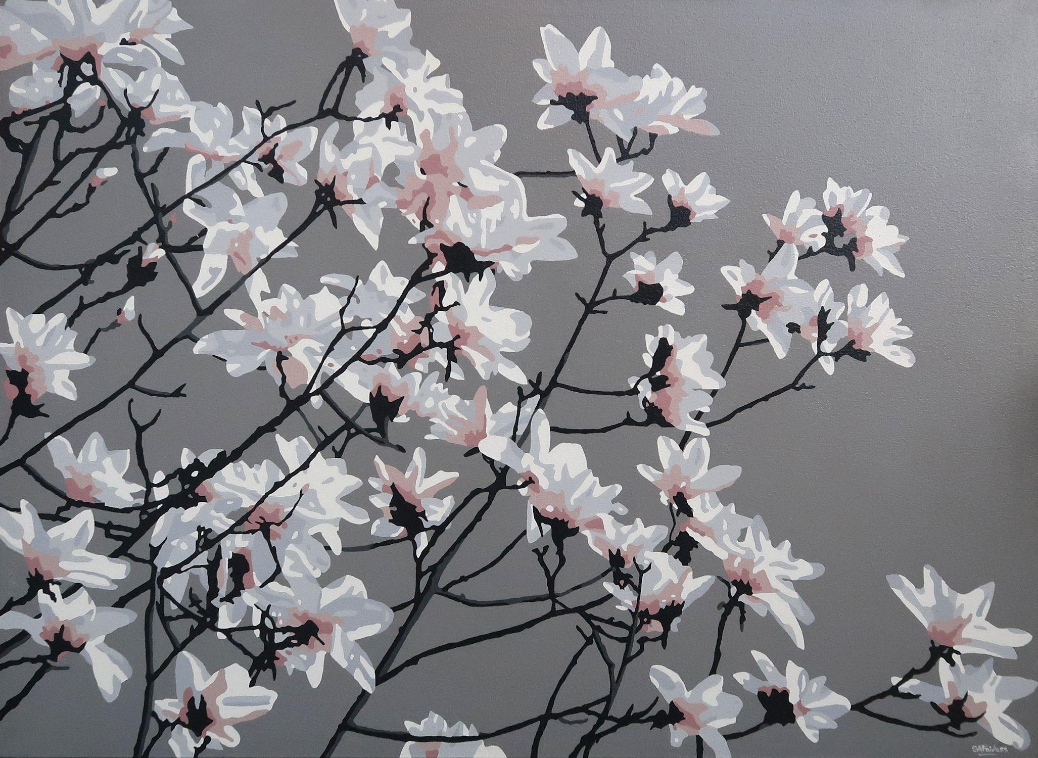Magnolia, Painting, Acrylic on Canvas