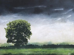 Morning Oak, Painting, Acrylic on Canvas