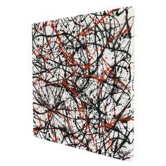 Neutrino Orange, Painting, Acrylic on Canvas