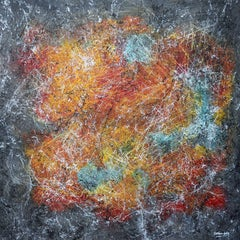 Rainbow Nebular, Painting, Acrylic on Canvas
