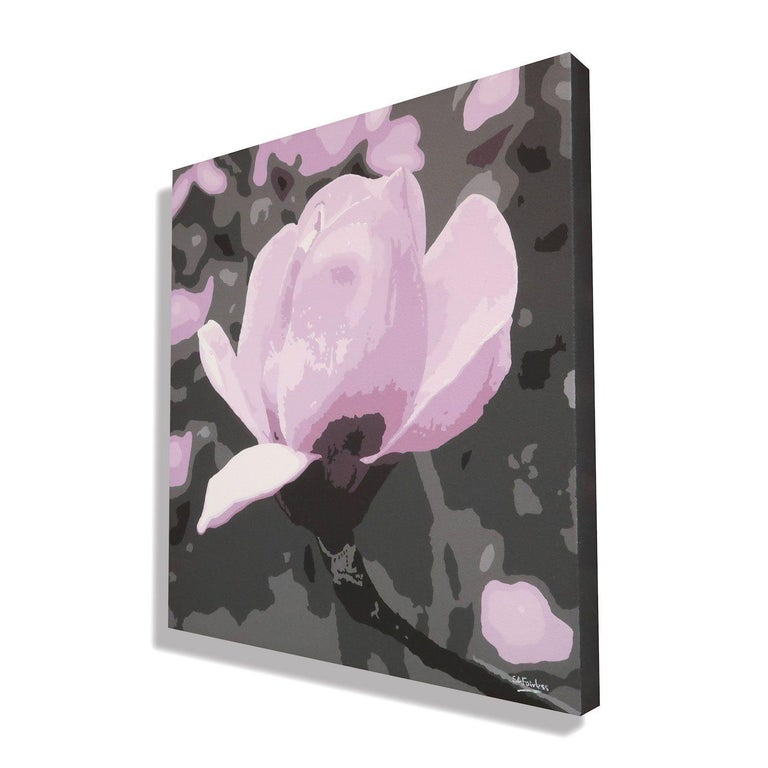 Spring Magnolia, Painting, Acrylic on Canvas For Sale 1