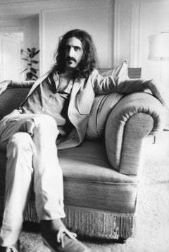 Frank Zappa Sitting on Couch Vintage Original Photograph